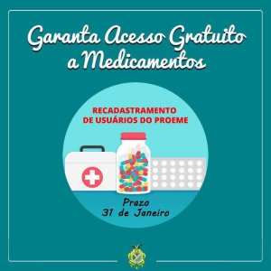 Recadastramento para Medicamentos na Cema