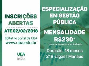 """Abertas as Inscrições para curso sobre """"Gestão Pública"""""""