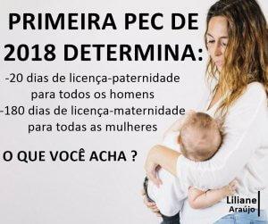 Primeira PEC de 2018 amplia licenças maternidade e paternidade