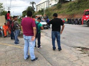 Protesto no Distrito Industrial de Manaus