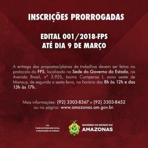INSCRIÇÕES PRORROGADAS ATÉ 9 DE MARÇO