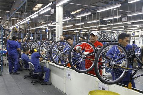 Produção de bicicleta