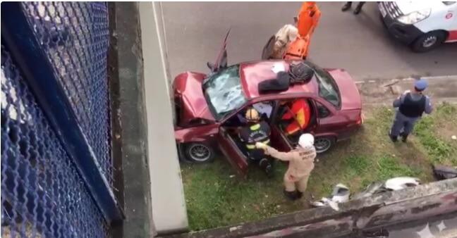 Acidente na Avenida Torquato Tapajós