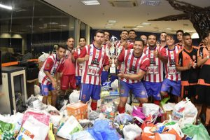 """Torneio """"Somos Todos Educandos"""" arrecada mais de 300 kg de donativos para vítimas do incêndio"""