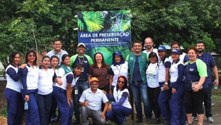 Arborização reforça proteção às margens do Igarapé do Passarinho e bate meta de plantio para este ano