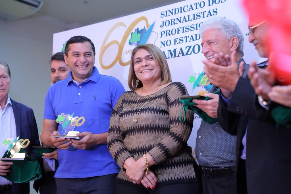 Governador eleito participa da comemoração dos 60 anos do Sindicato dos Jornalistas do Amazonas