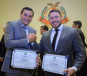 Governador eleito Wilson Lima e vice Carlos Almeida são diplomados e reafirmam compromisso com a transparência no governo.