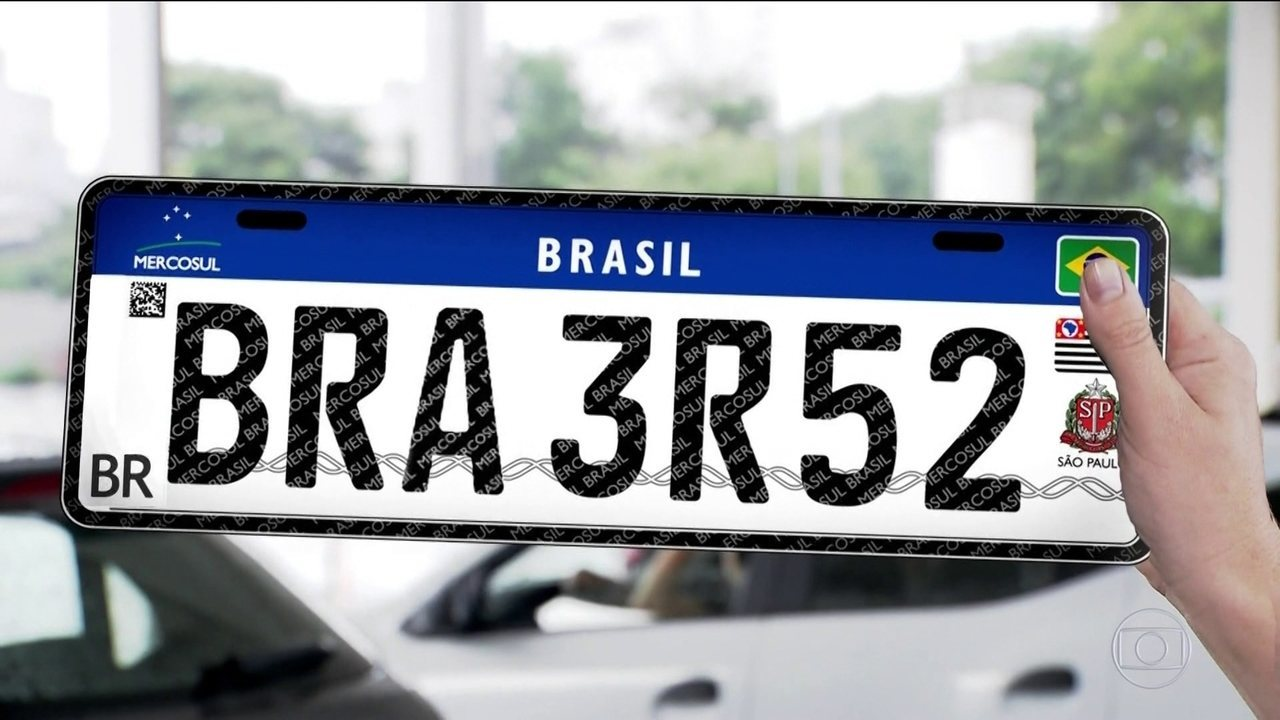 Placa com padrão Mercosul começa a ser usada a partir do dia 10 no AM