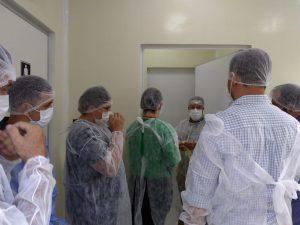 Finep visita obras do primeiro laboratório multiusuário de microscopia da UEA