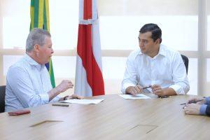 Wilson Lima recebe prefeito de Manaus, Arthur Neto, para discutir parcerias
