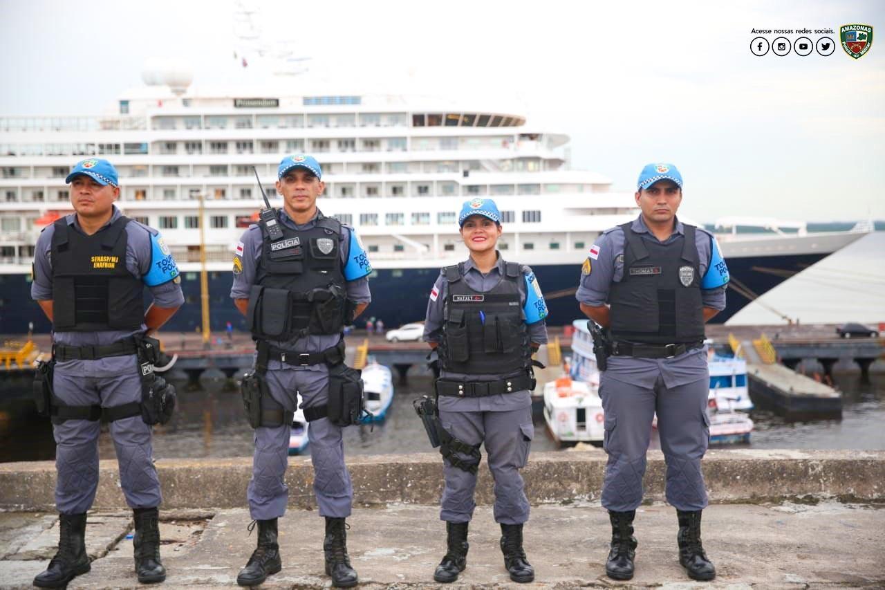 Polícia Militar reforça atuação para receber turistas da Temporada de Cruzeiros