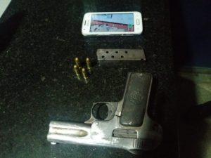 PM intercepta trio armado e impede assalto em coletivo na zona centro-sul