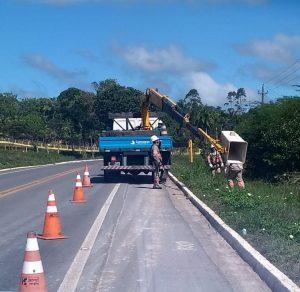 79 comunidades e ramais recebem serviços de melhoria na rede elétrica na BR 174