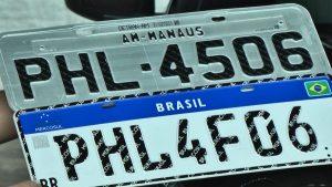 Amazonas completa um mês com mais de 10 mil veículos com a nova placa do Mercosul
