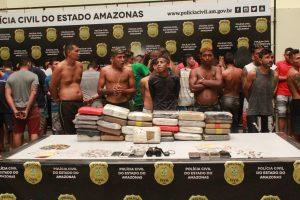 Operação Pilar 3 prende 80 pessoas e apreende 11 adolescentes na Zona Centro-Sul de Manaus