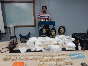 Polícia prende homem com 25 quilos de cocaína na zona sul de Manaus