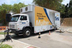 Unidade móvel de saúde do Sesc oferece mamografias gratuitas em Manaus