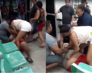 Paciente passa mal à espera de atendimento no Hospital João Lúcio, em Manaus