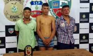 IMAGENS FORTES: Polícia prende suspeitos de realizarem chacina em Beruri, no AM