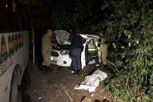 Colisão entre micro-ônibus e carro deixa duas vítimas fatais na Av. do Turismo, em Manaus
