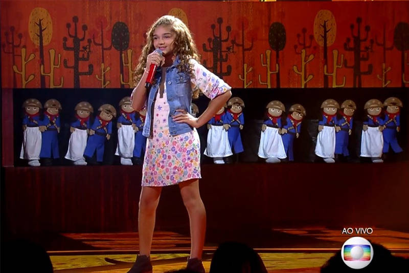 Amazonense Raylla Araújo fica entre as melhores do 'The Voice Kids'