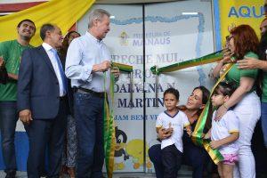 Arthur Neto anuncia 'Bolsa Creche' para ampliar vagas na educação infantil em Manaus