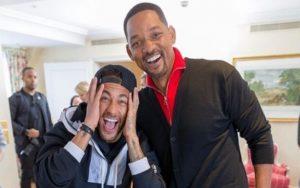 """Neymar conhece Will Smith e vibra: """"O melhor dia da minha vida"""""""