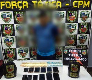 Homem é preso suspeito de roubo e estava portando 12 aparelhos celulares