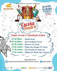Teatro Manauara apresenta 4ª edição do projeto 'A Escola Vai ao Teatro'