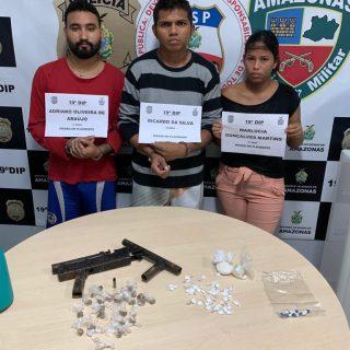Trio é preso envolvido por envolvimento com o tráfico de drogas no Nova Esperança