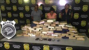 Polícia prende bando com 70 quilos de drogas no rio Solimões, no AM