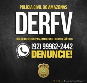 Polícia Civil disponibiliza número do disque-denúncia da Derfv para recebimento de delações