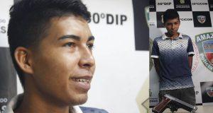 Jovem é preso por roubos em ônibus e diz que é motivado pelo diabo, em Manaus
