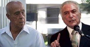Ex-Presidente Temer e Coronel Lima tem bens avaliados em R$ 32 milhões bloqueados pela Justiça