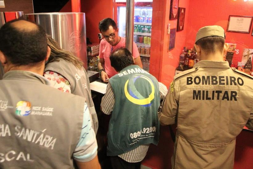 Bar é multado em aproximadamente R$ 25 mil durante operação contra poluição sonora, em Manaus