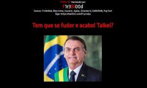 Hackers atacam site do PSOL Rio e colocam foto de Bolsonaro na página