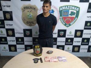 Homem é preso por tráfico de drogas no Coroado, em Manaus