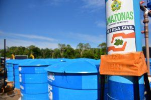 Governo do Estado leva para Anamã balsa com uma mega-estação de tratamento de água
