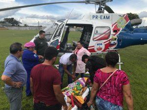 Criança é transportada para Manaus com trauma grave, após armário cair sobre ela no AM