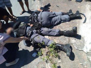 Viatura da PM colide com carreta e deixa feridos, em Manaus