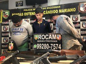 Homens de 'João Branco' são presos enquanto treinavam tiros no AM