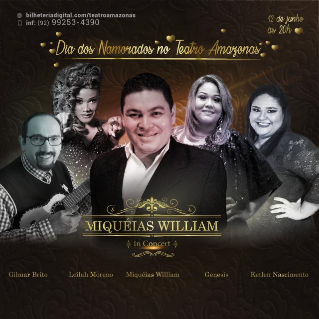 """Teatro Amazonas recebe espetáculo """"Miquéias William in Concert"""""""
