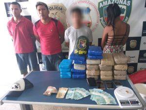 PM prende homens e apreende adolescentes com drogas em Coari, no AM