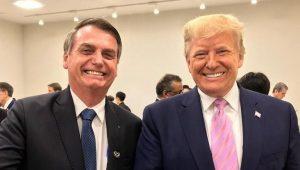 """""""Bolsonaro é um homem amado pelo Brasil"""", diz Donald Trump"""
