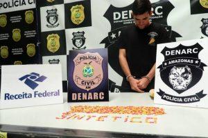 Polícia prende homem com drogas avaliadas em R$ 80 mil, em Manaus