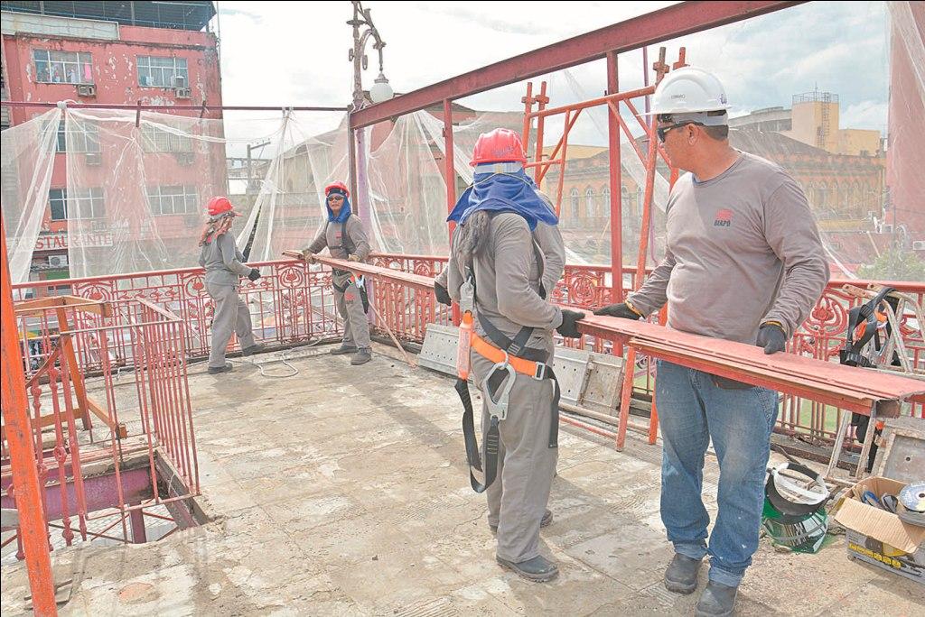 """Obras do projeto """"Manaus Histórica"""" avançam no centro de Manaus"""