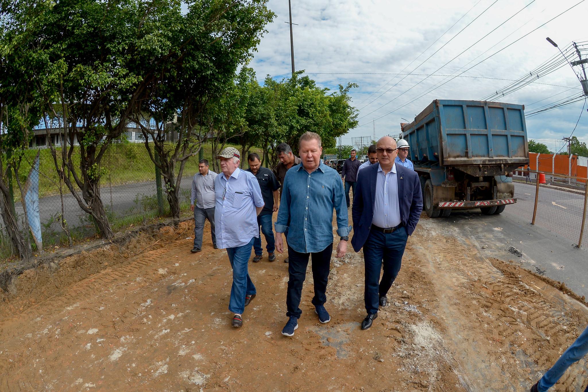 Prefeitura de Manaus inicia obras de reconstrução viária do lote 1, no Distrito Industrial