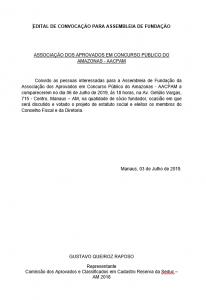 """Prof. Gustavo Raposo cria """"Associação dos Aprovados em Concurso Público do Amazonas"""" e convoca os interessados para assembleia"""