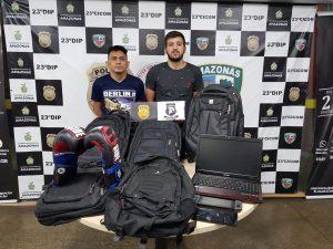 """Polícia Civil indicia trio por furto e receptação de produtos subtraídos de veículos utilizando o """"chapolin"""""""