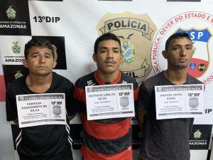 Trio é preso com cocaína, oxi e maconha no bairro Cidade de Deus